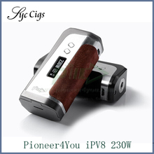 ต้นฉบับPionee R4you iPV8 230วัตต์กล่องสมัยPionee R4youบุหรี่อิเล็กทรอนิกส์แบตเตอรี่เหมาะสำหรับ510เชื่อมต่อเครื่องฉีดน้ำ