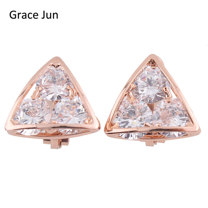 Grace Jun (TM) Yüksək keyfiyyətli Mis Sıxılmış AAA CZ - Moda zərgərlik - Fotoqrafiya 6