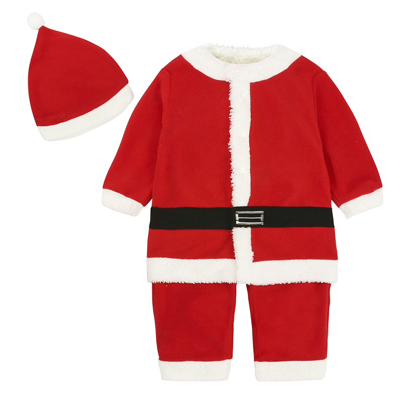Cartoon Baby Boys Girls Clothing Christmas Baby Romper Long Sleeve Rompers + Hat Novelty Newborn Boy Girl Clothes 9-24 Months