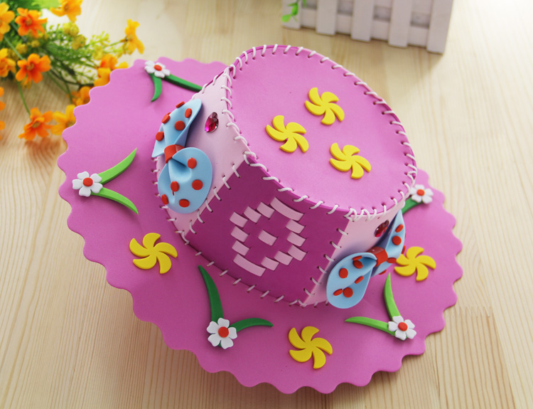 mylb Kits for Kids EVA Hat Toy Children DIY Art Craft Set Educational Creative Toys for girls Series