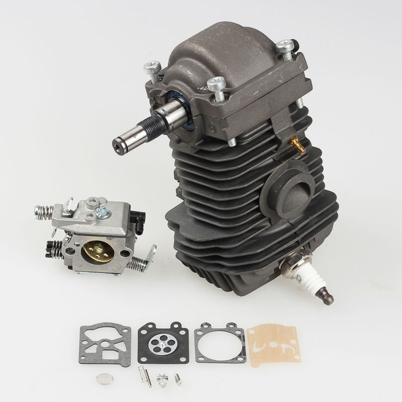 42.5mm Cylinder Piston Crankshaft Assembly for STIHL Chainsaw 023 025 MS230 MS250 with Carburetor Carb kit Spark plug 42 5mm cylinder piston for stihl 023 025 ms230 ms250 crankshaft carburetor carb with gasket chainsaw engine