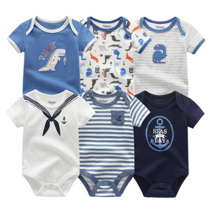 Image 3 - 2020 Newest 6PCS/lot Baby Girl Clothe Roupa de bebes Baby Boy Clothes Unicorn Baby Clothing Sets Rompers Newborn Cotton 0 12M
