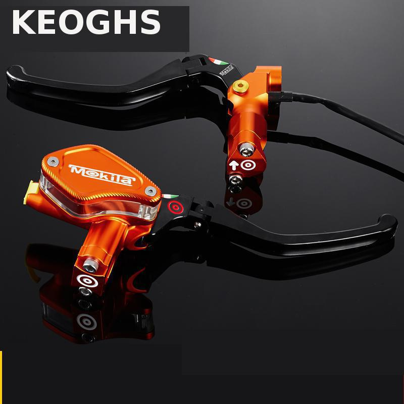 KEOGHS Motorcycle Brake Master Cylinder And Brake Clutch Lever 12.7MM Universal For 22mm Handlebar For Honda Yamaha Suzuki