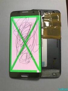 Image 3 - Orijinal süper AMOLED Samsung S7 kenar G935F G935fd Burn in gölge Lcd ekran dokunmatik ekran Digitizer çerçeve ile 5.5