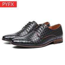 2019 summer new British style gentleman retro diamond shape classic mens business black leather shoes Wedding dress Office Shoes