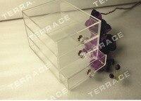 (Бесплатная доставка) 3 уровня акриловые ювелирные ящик случае lucite Организатор груди поле