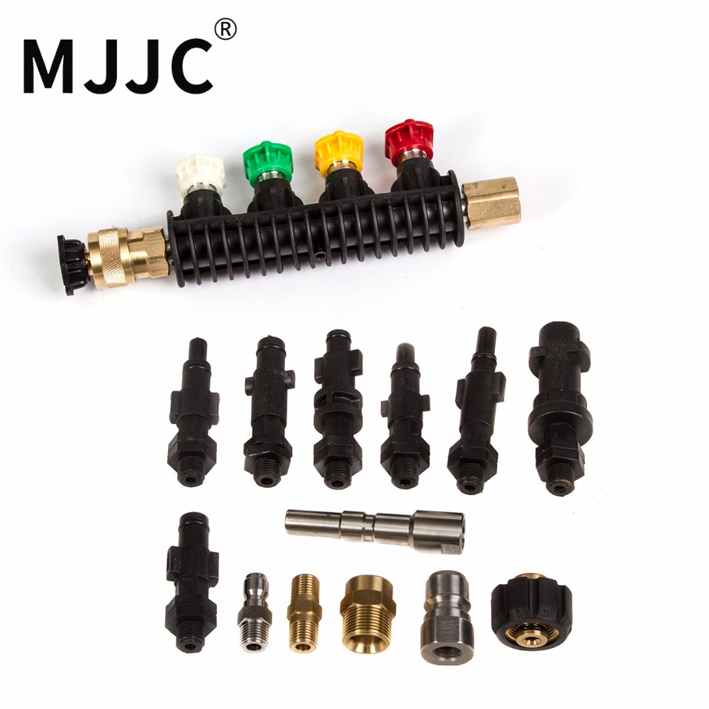 MJJC Brand Water Spray Lance Wand Nozzle with all connectors for all kinds of Pressure Washers car washer water spray gun lance nozzle high pressure cleaner washers