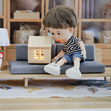 MagiDeal 1:12 Miniature Wooden Detachable Japanese Sofa Couch Furniture Doll House Furniture Dollhouse Living Room Accessory(China)