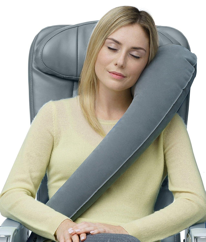 Portable Train Car Inflatable Pillow U-shaped Neck Pillow Travel Pillow Aircraft Sleeping Comfortable  Neck Pillow