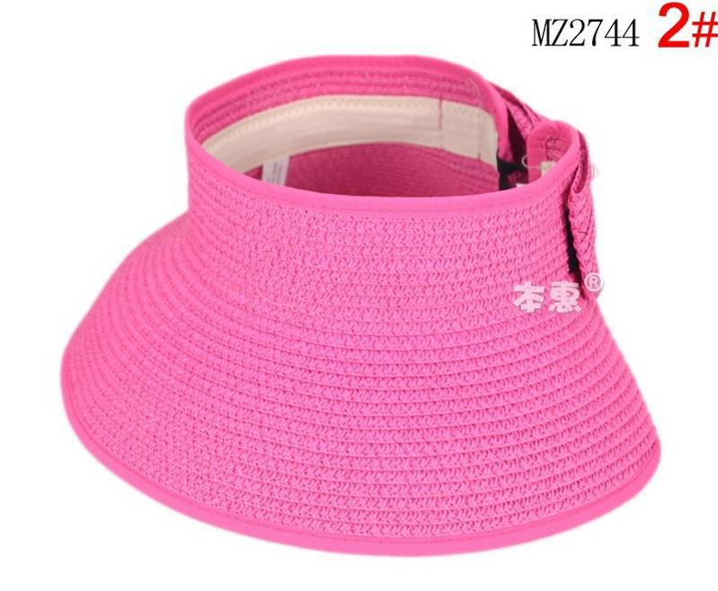 1136a0b7b0d8a 2015 Summer Wholesale tourism cap 13 solid colors Children Portable folding  straw hat baby girls Beach Hats kids sun hat-in Hats   Caps from Mother    Kids ...