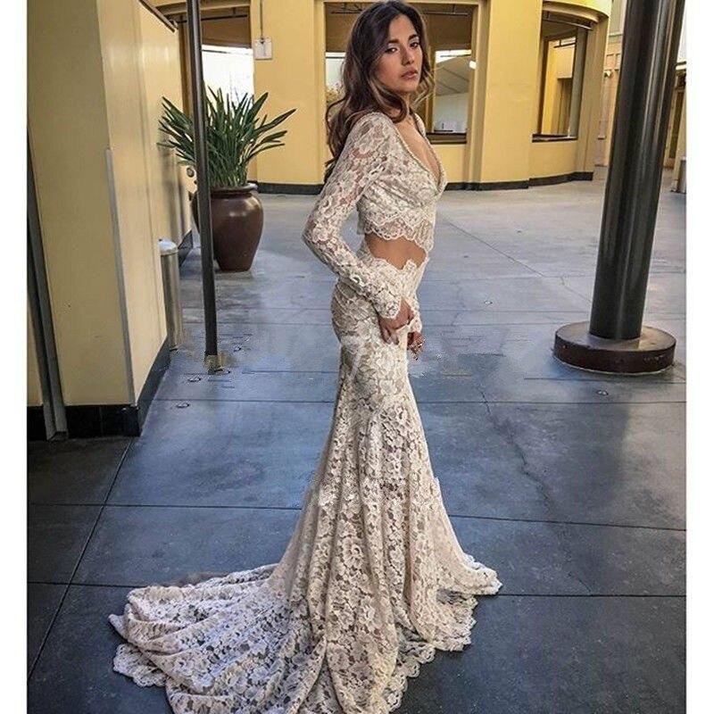2017 vestido de noiva mermaid vintage weding dresses made floor