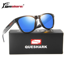 b3bb95502af QUESHARK Polarized Hiking Camping Sunglasses Uv Protection Travel Fishing  Driving Sunglasses Red Lens Googles Bicycle Eyewear-in Hiking Eyewears from  Sports ...