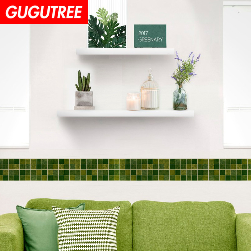Decorate 10x1000cm green course art wall sticker decoration Decals mural painting Removable Decor Wallpaper LF-132