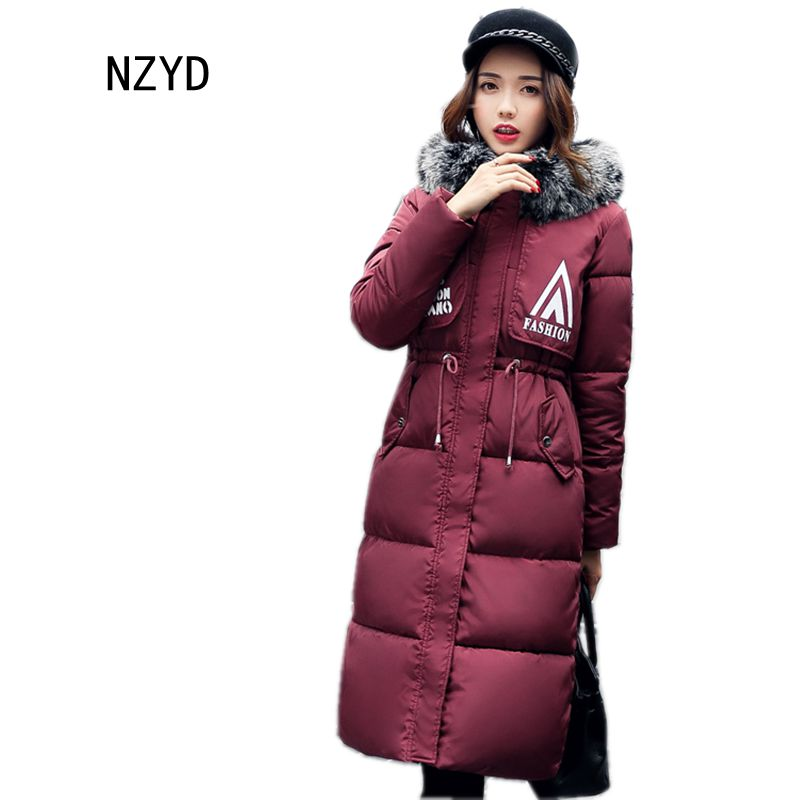 Women Winter Jacket down Hooded Thick Super warm Medium long Coat 2017 New Long sleeve Slim Big yards Female Parkas LADIES258 thick hooded down jacket women slim print long winter coat camouflage y160