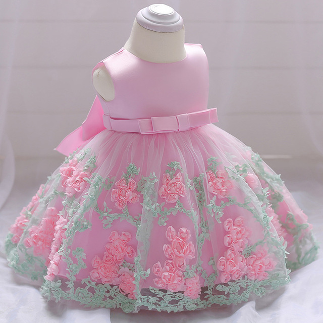 4741301691d4 2018 Summer baby Girls Wedding 1 year Birthday Party baptism Dresses  Princess Children Clothes For Kids Baby Clothes Girl Dress
