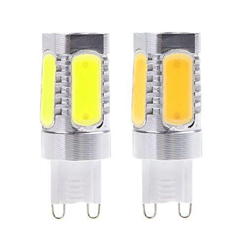 5 X haute puissance aluminium G9 7 W COB LED blanc chaud Ampoule Spot lumière 110 V Blanc 220 vlivraison gratuite!!