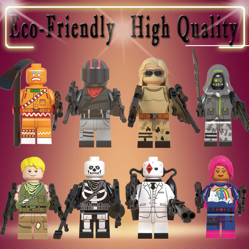 TPS Building Blocks Skull Trooper Wild Card Brite Bomber Bumout Scorpion Archetype action model figure children Toys MG0140-0147