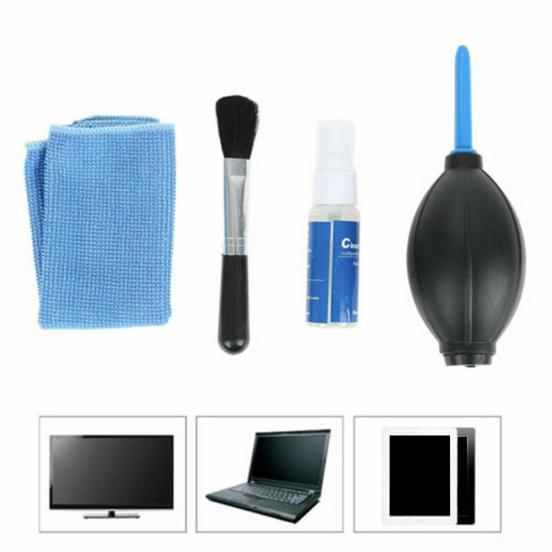 New 4 In 1 Screen Cleaning Suits Kit For TV LED PC Monitor Laptop Tablet IPad Cleaner