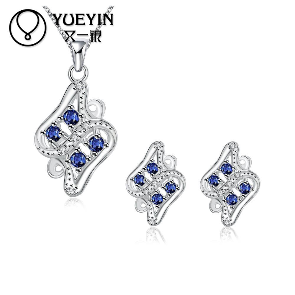 Fantastic Womens/Girls Jewelry Sets silver Filled Noble Austrian crystal Jewelry Sets Wedding Gifts