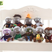 купить 1pcs30cm Plants vs Zombies Plush Toys 13 Styles Plants PVZ Gargantuar Hats Pirate Duck Zombie Plush Stuffed Toys Baby Toy party по цене 298.3 рублей
