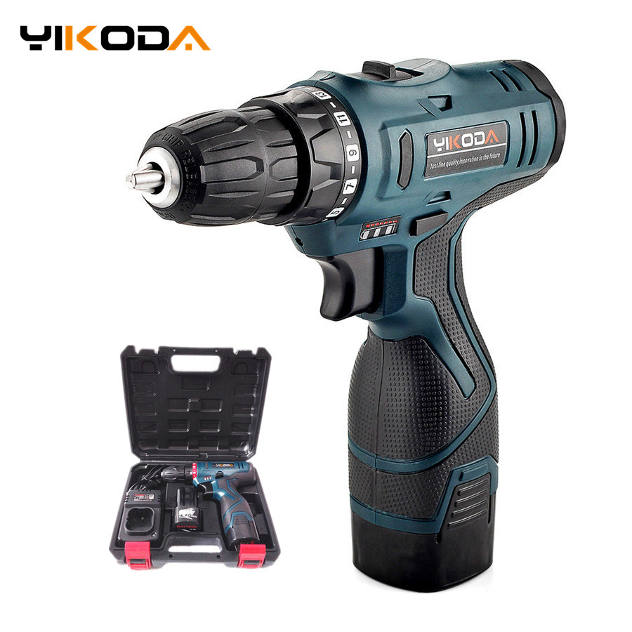 16.8V Cordless Drill Double Speed Rechargeable Lithium Battery*2 Waterproof Electric Screwdriver Household Power Tools