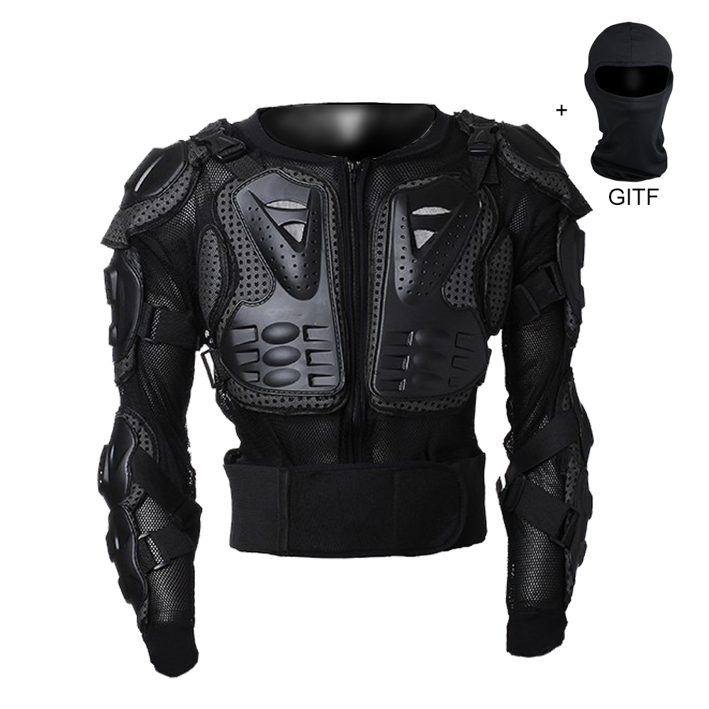 Bon marché fonctionnelle Moto Racing Armure de Protection Motocross Off-Road Body Protection Veste Vêtements Équipement De Protection avec masque