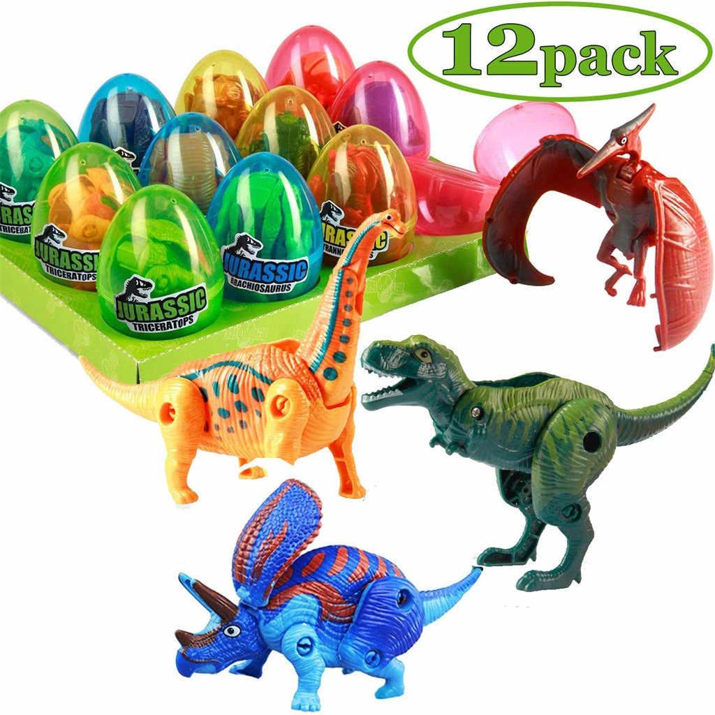 Детские игрушки, 12 шт., креативные игрушки-трансформеры, динозавры, животные, Детские Игрушки для раннего образования, подходят для детей старше 3 лет