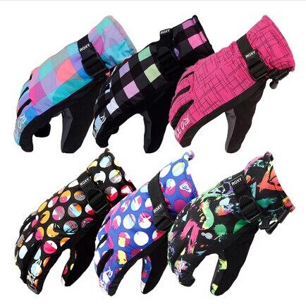 Hot Deportes Al Aire Libre Mujeres Baratas guantes de esquí a prueba de viento i