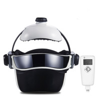 Electric Head Relax Massager Multi frequency Hot Compress Air Pressure Massage Brain Adjustable Size Instrument Music Helmet
