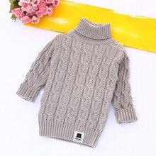 Solid Turtleneck Sweaters for Kids Knitted Pullovers Outwear Draped Pattern Girls Boy Sweaters Warm Knitwear Kids Clothing