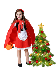 Fantasia Halloween Kostuum Voor Kinderen Kerst Cosplay Carnaval Fancy Dress Prinses Roodkapje Mantel Kind Kid Meisjes(China)
