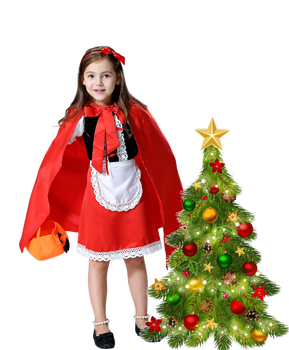 Fantasia Halloween Costume For Kids Christmas Cosplay Carnival Fancy Dress Princess Little Red Riding Hood Cloak Child Kid Girls halloween little red riding hood costume sexy women storybook hen party fantasia fancy dress