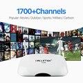 HDMI Android Smart TV Box com 1 Ano Grátis IUDTV Céu Canal 1700 Canais IPTV Europa Francês Itália REINO UNIDO Alemanha Árabe Set Top caixa