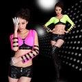 Envío gratis Sexy Lingerie Pink apretado discoteca de baile de tubo moderna danza Jazz DS trajes para funcionamiento de la etapa