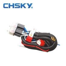 Chsky горячая Распродажа водонепроницаемый 12V 2 светильник H4 головной светильник Жгут проводов комплект реле CH-H4-1202ET