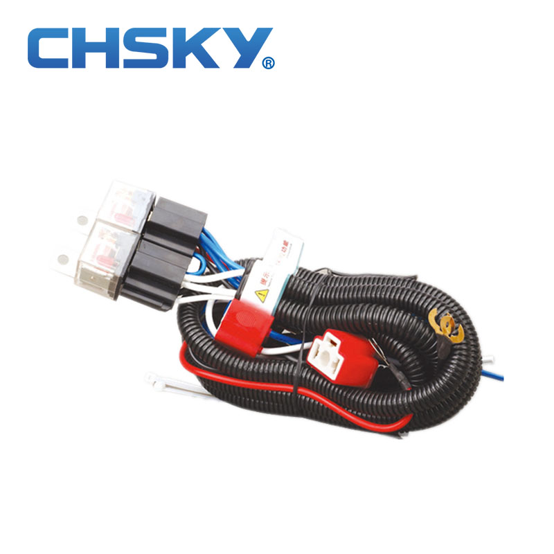 Chsky Sizzling Sale Waterproof 12V 2 Gentle H4 Headlight Wiring Harness Relay Kits Ch-H4-1202Et