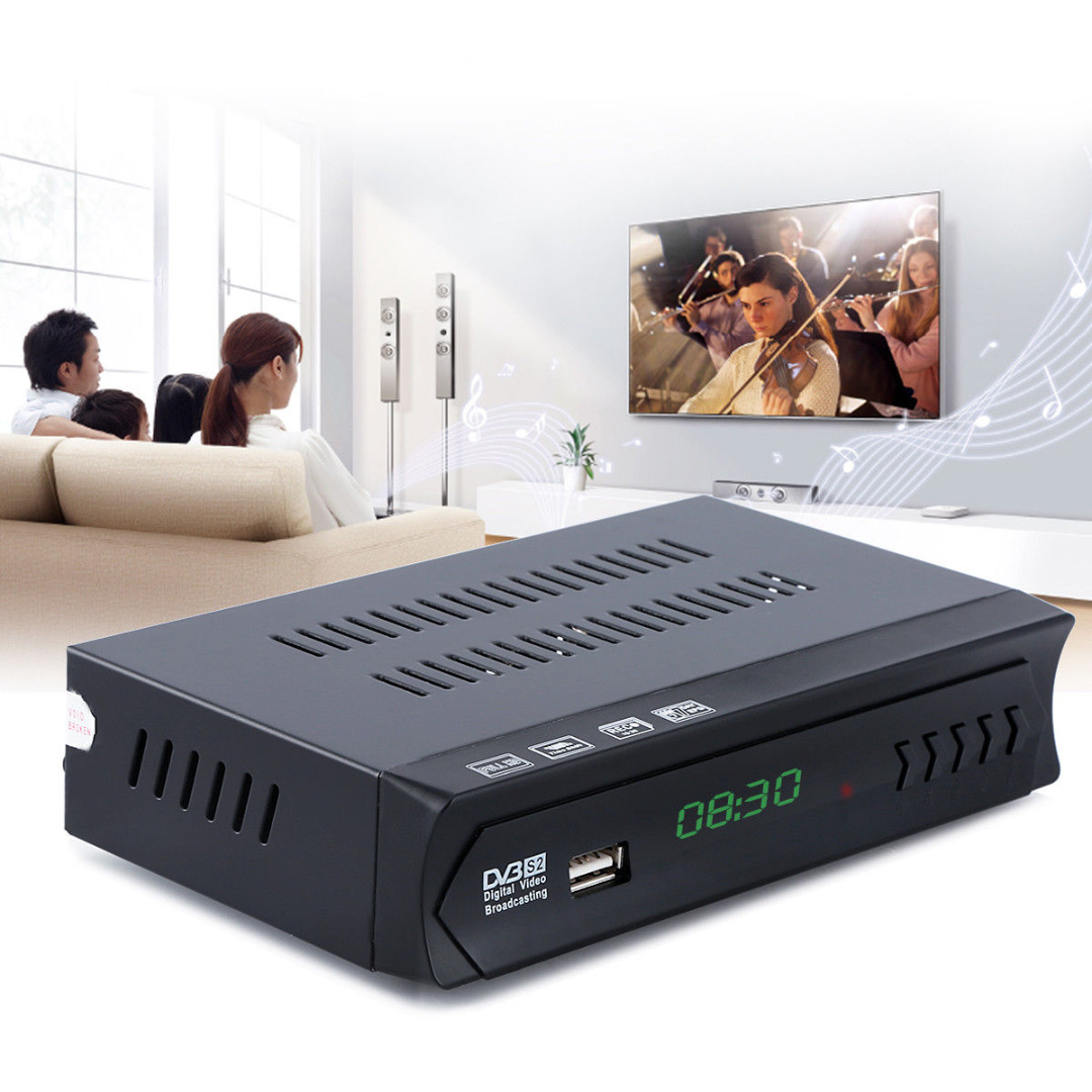 где купить 1080P DVB-S2 HD Set Top Box Digital Satellite IPTV Combo TV Box Receiver Support USB WIFI Full SD/HD DVBS/S2, MPEG2 MPEG4 дешево