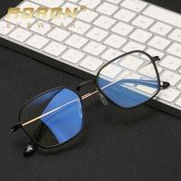 AORON Aluminum magnesium Computer Glasses Anti Blue Light Radiation Optical Print Glasses Round Eyewear Frame Glass Men & Women
