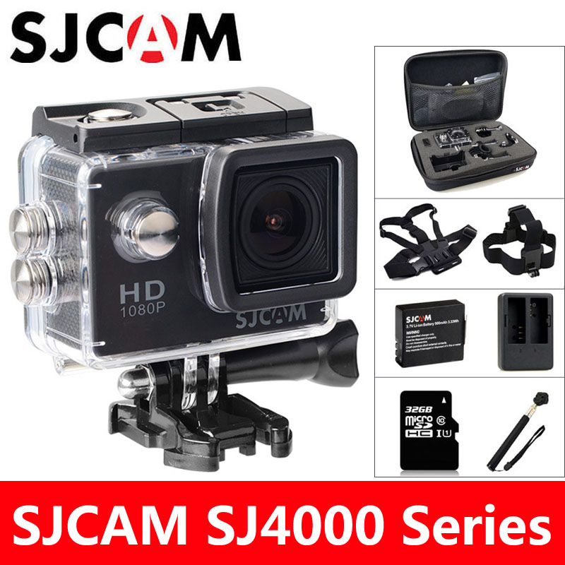 SJ4000 SJCAM Action Camera Sports DV 2.0 polegada 30 m de Mergulho À Prova D' Água HD 1080 p Extrema Capacete Filmadora mini Original SJ 4000 Cam