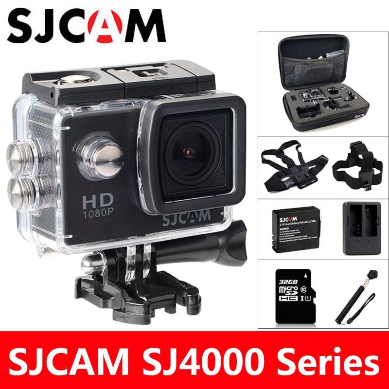 SJCAM SJ4000 veiksmo kameros sportas DV 2.0 colių nardymas 30M vandeniui HD 1080P Extreme šalmas mini vaizdo kamera Originalus SJ 4000 Cam