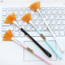 10pcs lot creative Korea brush gel pen 0 5 mm black office felt tip pens Small