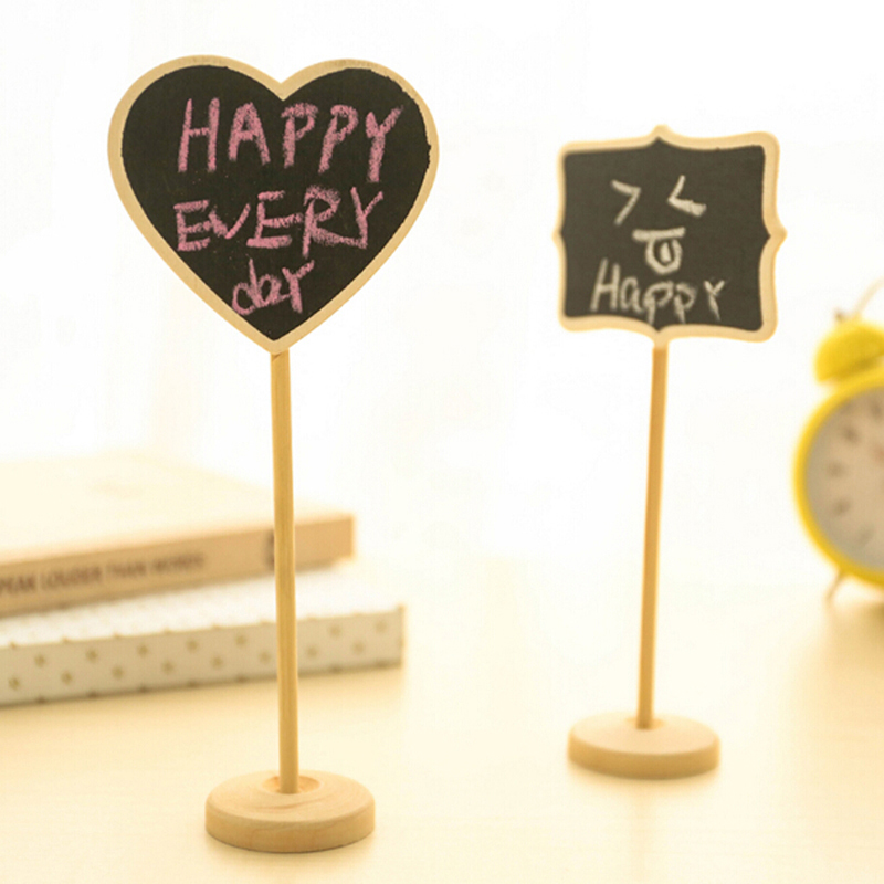 Mini 10pcs/lot  Price Blackboard W/ Stand Signage Directions Wood Message Blackboard Free Shipping Fashion Creative Blackboard