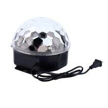 2017 Recién Llegado de Control Remoto RGB MP3 Bluetooth música mágica de Cristal LED bola de Luz Con USB Ranura Para Tarjeta