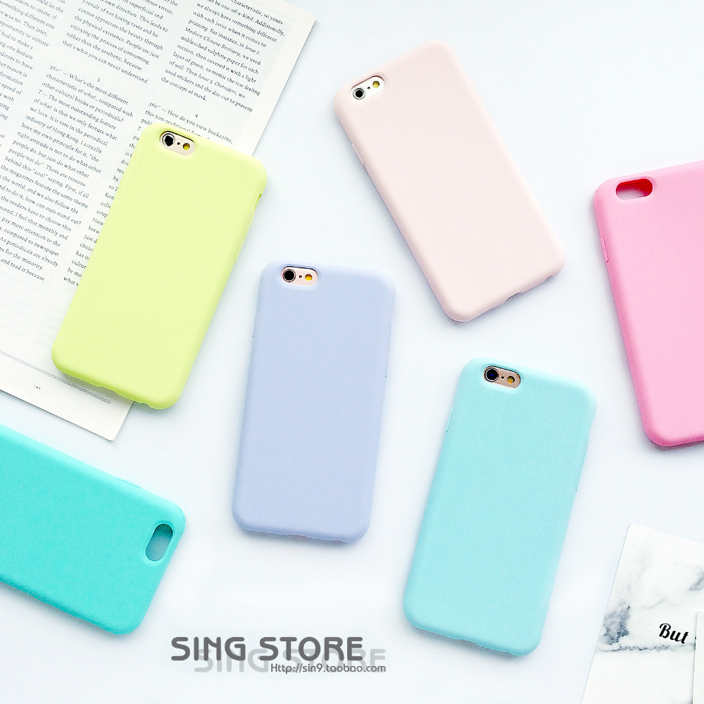Iphone 6 squishy case - Macarons Color Tpu Silicone Frosted Matte Case For Iphone 6 6s Plus 6plus Soft Back Cover