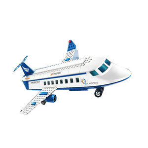 Image 4 - 市国際空港 652 ピース航空航空機ビルディングブロックレンガモデル子供のおもちゃクリエーター互換 Legoings