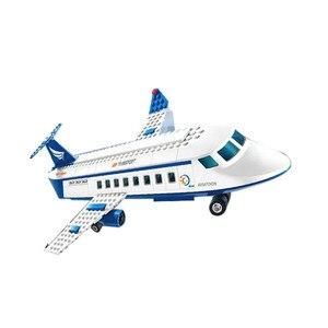 Image 4 - Городской международный аэропорт, 652 шт., авиационные строительные блоки, наборы кирпичей, модель, детские игрушки, совместимые с Lego