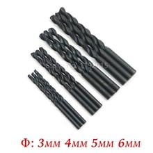 1 Pcs Hss Drill Bit Set Carbon Steel Material Manual Black Coated Woodworking Twist Drills Bit DIY Wood Metal Drilling 3 4 5 6mm