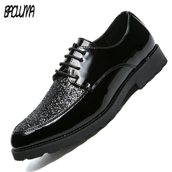 BAOLUMA Men Leather Sneakers Designer Shoes Casual Men Shoes Fashion Men Flats Exquisite Design Non-slip Comfortable Men Shoes