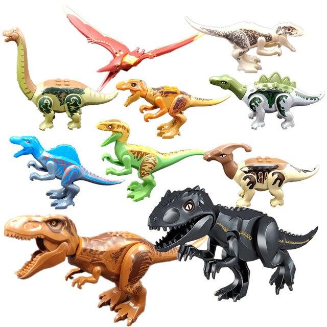 10 unids Mundo Jurásico 2 dinosaurio Tyrannosaurus Rex Indoraptor ...