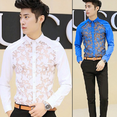 2015 new luxury casual slim fit stylish dress shirt for Mens dress shirt sizing